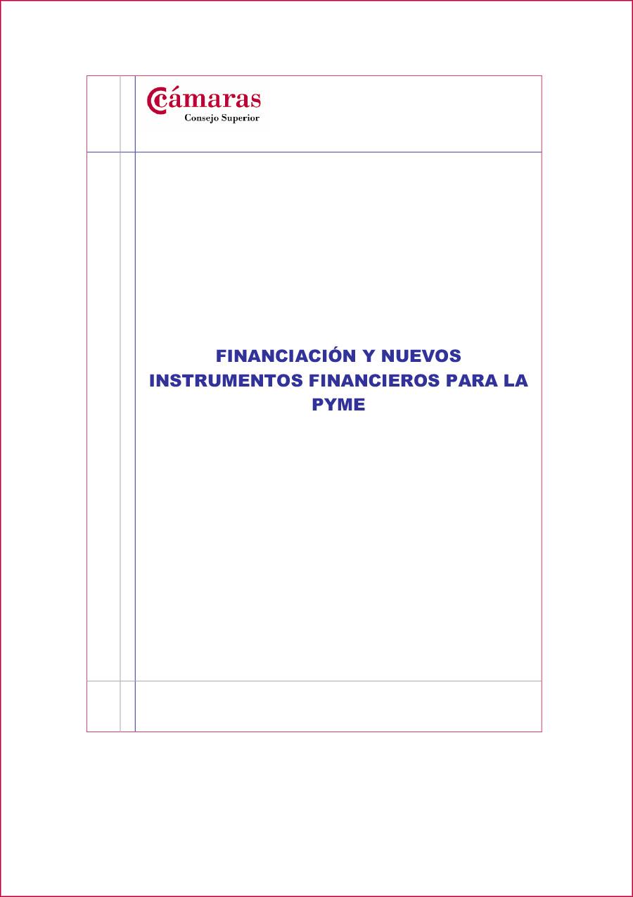 Financiación y nuevos instrumentos financieros para la PYME-1